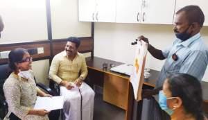 பூரணசுந்தரியுடன் டாக்டர் சரவணன்